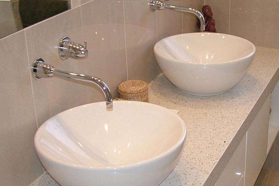 Bathroom stone benchtops